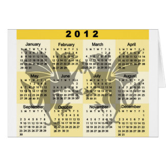 2012 Calendar with Gryphons print Card