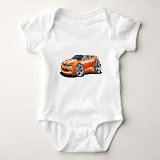 2012 Camaro Orange-White Convertible Baby Bodysuit