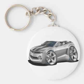 2012 Camaro Silver-Black Convertible Basic Round Button Keychain