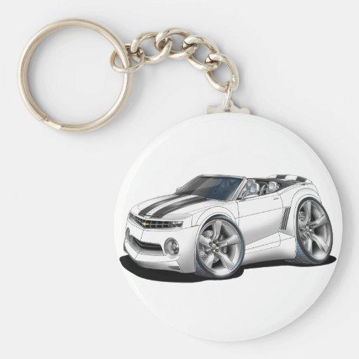 2012 Camaro White-Black Convertible Keychain