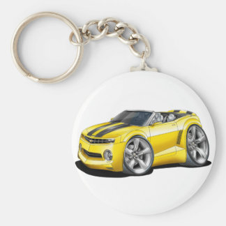 2012 Camaro Yellow-Black Convertible Keychain