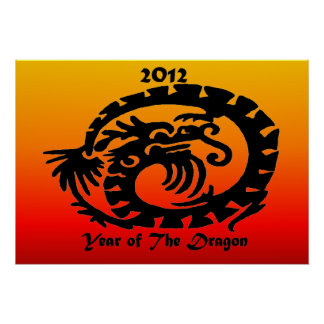 2012 Chinese New Year Dragon Poster