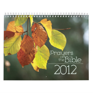 2012 Christian calendar: Prayers of the Bible Calendars