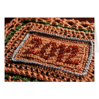 2012 Crochet New Years Wishes Card