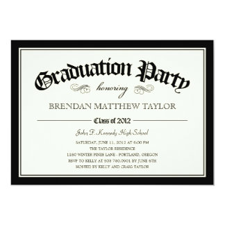 2012 Diploma Graduation Party Invitation
