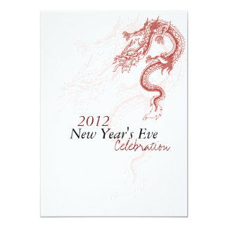 2012 Dragon New Year's Eve Party Invitaitions Card