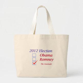 2012 Election Obama Romney Anunnaki Canvas Bags