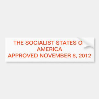 2012 ELECTION RESULTS AS CONSERVATIVES SEE IT BUMPER STICKER