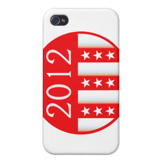 2012 election round seal red version iPhone 4/4S covers
