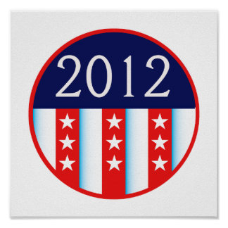 2012 election seal red and blue vote voting posters
