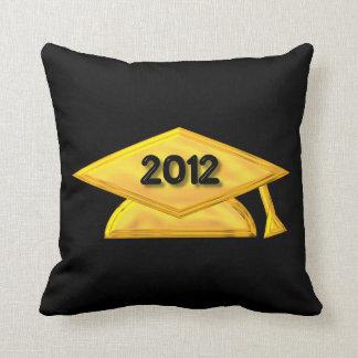 """2012 Golden """"3-D' Graduation Cap Pillows"""