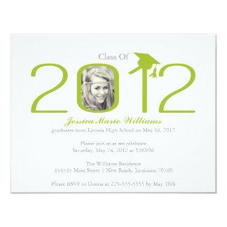 "2012 Graduation Party 4.25"" X 5.5"" Invitation Card"