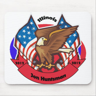 2012 Illinois for Jon Huntsman Mousepad
