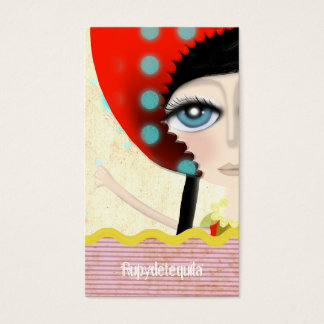 2012 illustration Doll texture Business Card