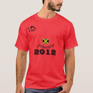 2012 Jamaica Red  T Shirt