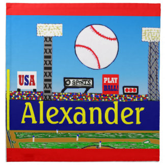 2012 Kids Baseball Personalized Cloth Napkins Gift