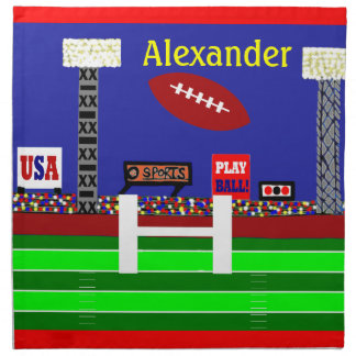 2012 Kids Football Personalized Cloth Napkins Gift