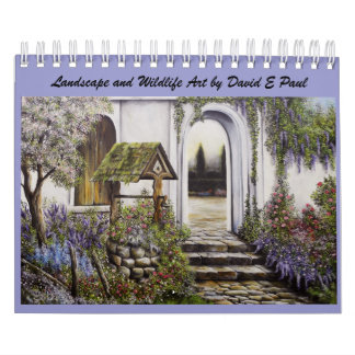 2012 Landscape and Wildlife Art by David  E Paul Calendar