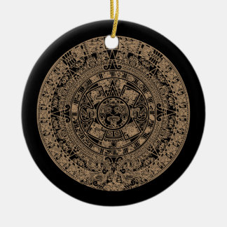 2012 Maya Calendar Round Ceramic Ornament