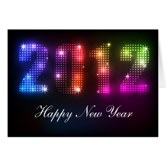 2012 New Year's Rainbow Lights Design Card