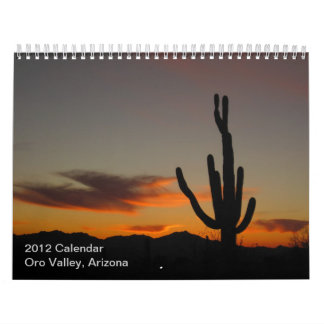 2012 Oro Valley, Arizona Calendar