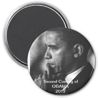 """2012 President Barack Obama """"Second Coming"""" Magnet"""