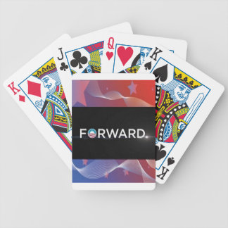 """2012 Presidential Election """"Forward"""" Slogan Gear Bicycle Playing Cards"""