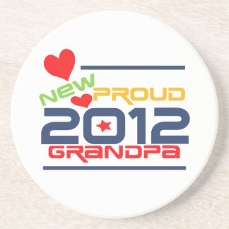 2012 Proud Grandpa T-shirts and Gifts Coaster
