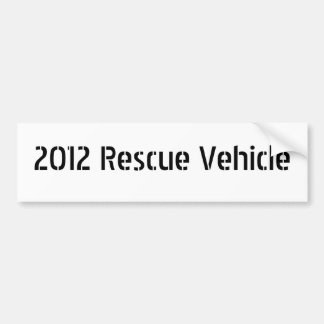 2012 Rescue Vehicle Bumper Sticker