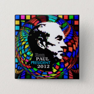 2012 Ron Paul Psychedelic square pin