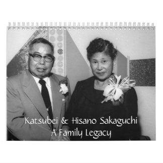 2012 Sakaguchi Family Calendar