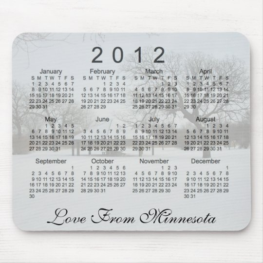 2012 Scenic Calendar Mouse Pad