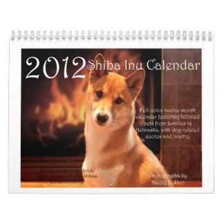 2012 Shiba Inu Calendar
