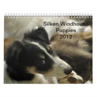 2012 Silken Windhounds Puppies 2 Wall Calendar