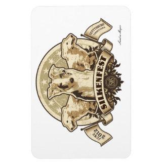 2012 Silkenfest logo flexible magnet Sandra Meyer