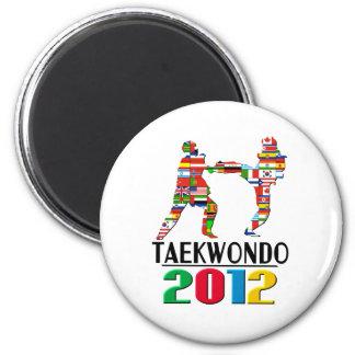 2012: Taekwondo 2 Inch Round Magnet