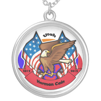 2012 Utah for Herman Cain Round Pendant Necklace