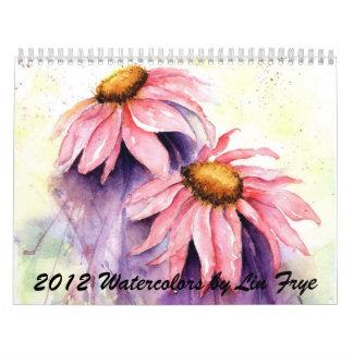 2012 Watercolor Calendar by Lin Frye