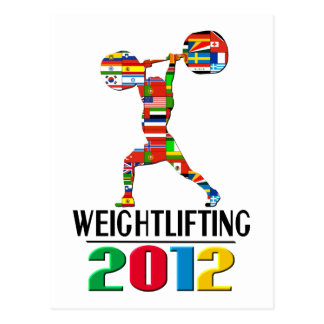 2012: Weightlifting Postcard