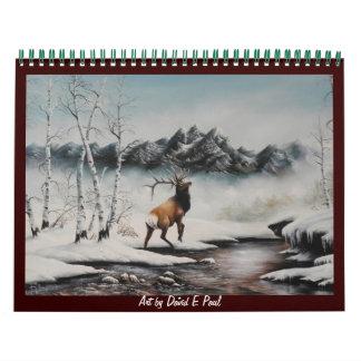 2012 Wildlife Art Calendar Art by David Paul