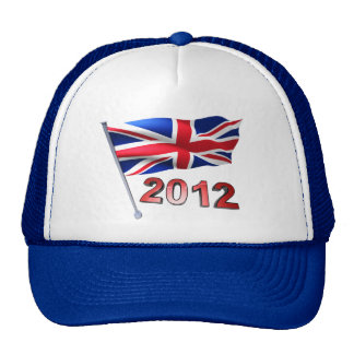 2012 with Britain flag Trucker Hat
