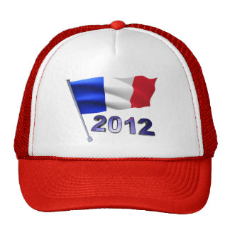 2012 with French flag Mesh Hat