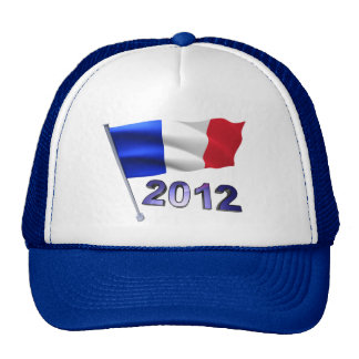 2012 with French flag Trucker Hat