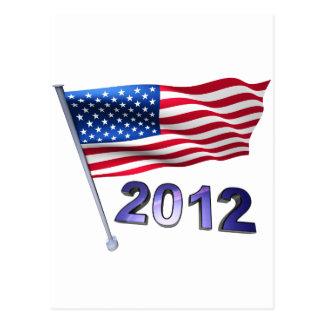 2012 with USA flag Postcard