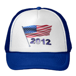 2012 with USA flag Trucker Hat