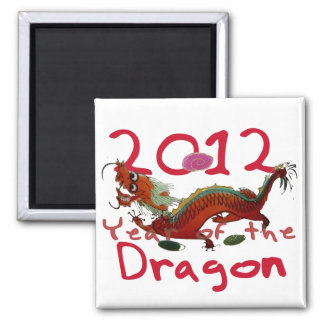 2012 - Year of th Dragon Square Magnet