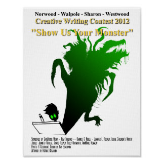 """2012 Youth Writing Contest """"Show Us Your Monster"""" Poster"""