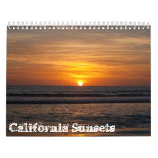 2013 Calendar - California Sunsets