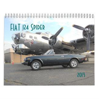 2013 Calendar Fiat 124 Spider