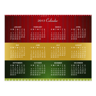 2013 Calendar for Christmas & New Year Blessing Post Cards
